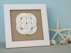 Nautical Decor  Beach Sand Fabric  Sailors Knot  by GoldenGray, $44.00
