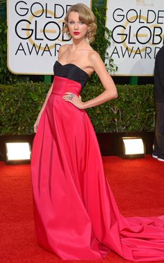 The Golden Globes: Taylor long limb Swift totally owned that Carolina Herrera gown