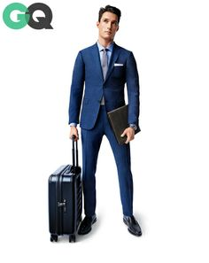 I love the color/look/fit/all of this Zenga suit - From @GQ Magazine Stay Business Classy: How to Make Work Travel Work for You