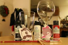Instructions on how to paint your own wine glasses.  I will be trying this this weekend.