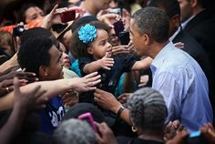 This little girl and Obama