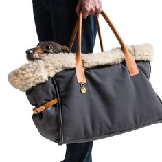 Cloud 7 - Dog Carrier - Canvas Grey - Small - Not sure his lordship would let me carry him in this, but he'd certainly get snuggled down in it. Dog Purse, Dog Bag, Dog Items, Dog Travel, Pet Life, Dog Costumes, Pet Shop, Small Dogs, Cute Dogs