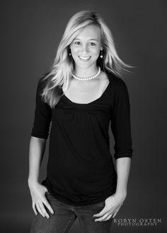 black and white classic senior portrait -Baltimore Photographer, Robyn Osten