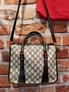 246a90e38ca6 Details about Authentic Vintage GUCCI Web Boston Doctor Bag Satchel Speedy  Purse Handbag