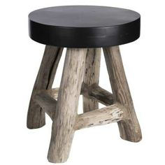 Stool Nature Black Wood Eclectic Living Room, Wood Stool, Wooden Art, Made Of Wood, Black Wood, Custom Furniture, Wood Projects, Teak, Home Accessories