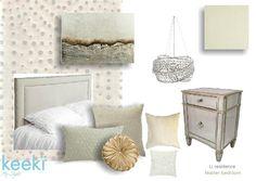 #neutral #cream #beige #bedroom #interiordesign #moodboard #sampleboard created on www.sampleboard.com