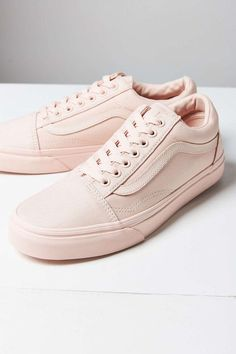 087ba1d6a1e409 Vans   Old Skool Shoe Peach Blush (Mono Canvas) Peach Vans