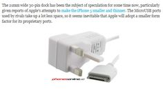 Apple to use smaller dock connector in iPhone 5  The iPhone 5 is going to be smaller and thinner micro #Technology.