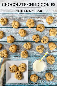 This lower calorie chocolate chip cookie recipe, by Buddy Valastro of Cake Boss, has less calories per serving and you can't taste the difference. Check it out here at La Jolla Mom Low Carb Protein Bars, Protein Bar Recipes, Protein Cake, High Protein, Delicious Cookie Recipes, Holiday Cookie Recipes, Yummy Cookies, Dessert Recipes, Homemade Desserts