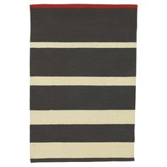 striped rug for the living room from West Elm