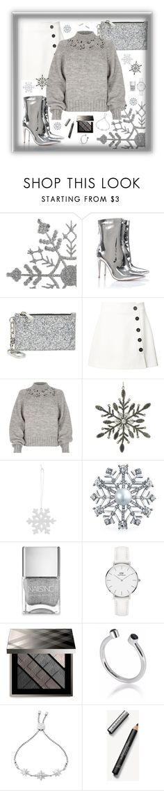 """""""Silver Lining"""" by maggiesinthemoon on Polyvore featuring Tory Burch, Misha Nonoo, River Island, Parlane, Berylune, Bling Jewelry, Nails Inc., Daniel Wellington, Burberry and Maya Magal"""