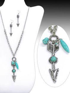 Arrow Stone Necklace