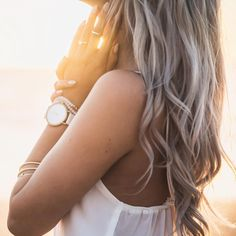 Golden Hour with The Whitehaven John Taylor watch style. Women's watch. Unisex watch style. Sunset. Boho babe. Boho style.