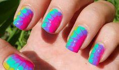 'Tye Dye' manicure