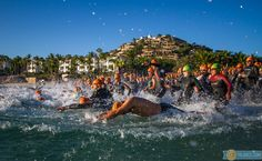 An in water photo from the Ironman Los Cabos swim start. #2014photos #triathlon #swim #mexico