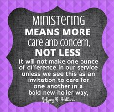 """""""Ministering means more..."""""""