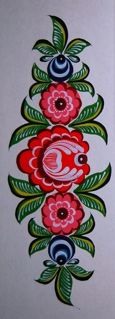 Folk Embroidery Ideas Folk Gorodets painting from Russia. A floral pattern. Folk Embroidery, Learn Embroidery, Embroidery Designs, Russian Folk Art, Scandinavian Folk Art, Tole Painting, Art Projects, Floral Prints, Hand Painted