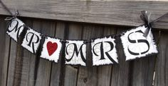 Mr & Mrs Banner Silver and Black by TaraAlexanderDesigns on Etsy