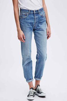 Urban Renewal Vintage Customised Levi's 501 Jeans in Blau - Urban Outfitters