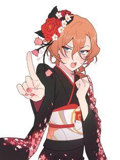 This is the last time you choose my outfit Dazai! Dazai Bungou Stray Dogs, Stray Dogs Anime, Bungou Stray Dogs Characters, Anime Characters, Chuuya Nakahara, Dazai Osamu, Yokohama, Anime Guys, Otaku