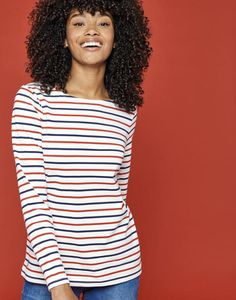 Breton Stripe Tops & Nautical Print Tops For Women Joules Clothing, Joules Uk, Striped Jersey, Navy Stripes, Spring Summer Fashion, Going Out, Style Inspiration, Clothes For Women, My Style