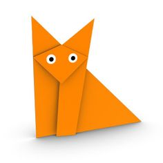 How to make a traditional sitting origami fox for kids