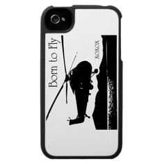Born to Fly design iPhone 4 Covers