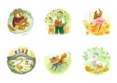 The Woodland Animals Alphabet Book by Jasmine Ting, via Behance Alphabet Book, Animal Alphabet, Woodland Animals, Jasmine, Behance, Illustration, Books, Projects, Forest Animals