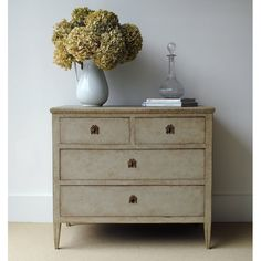 Swedish Gustavian Chest...*note charming hardware & patina....the style suggests..<3
