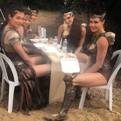 "1,587 Likes, 10 Comments - Jenny Pacey -SweatAndChampagne (@jennypacey) on Instagram: ""@wonderwomanfilm #behindthescenes #amazon #warrior #ladiesatlunch . We had amazing Italian #food…"""