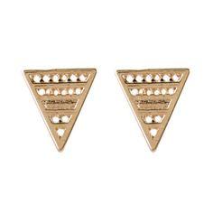 Brinco Triângulo Vazado Pequeno Dourado - LAÇOS de FILÓ   acessórios femininos