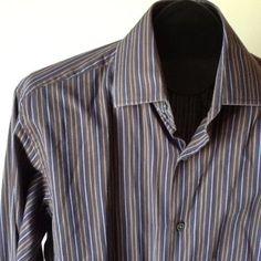 Men Banana Republic Striped French Cuff Style Shirt Size M 15 15 5   eBay