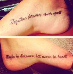 Tatto my best friend & I got together.