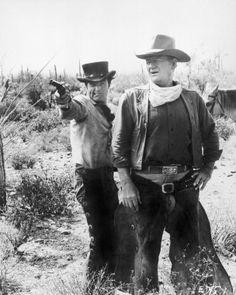 John Wayne And James Caan - El Dorado - 1966