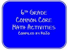 HoJos Teaching Adventures: 6th Grade Common Core Math Activities