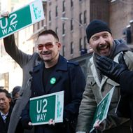 Two of my favorite people, Bono and The Edge.  Thanks for the music and for the good deeds, dudes :D