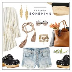 """""""The New Bohemian with American Eagle Outfitters: Contest Entry"""" by hellodollface ❤ liked on Polyvore featuring American Eagle Outfitters, Prada, Marc by Marc Jacobs, Lucky Brand, Eugenia Kim and aeostyle"""