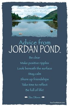 Advice from Jordan Pond