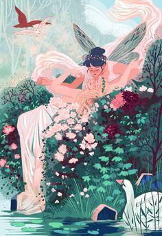 Lesbian Art, Gay Art, Kunst Inspo, Art Inspo, Art And Illustration, Fantasy Kunst, Fantasy Art, Anime Kunst, Anime Art