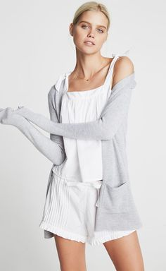Sunday Funday - A delicate cotton pajama set is ideal when your day involves lounging, relaxing, and little else.