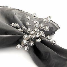 Firethorn Napkin Rings - Silver Set of 4   Z Gallerie