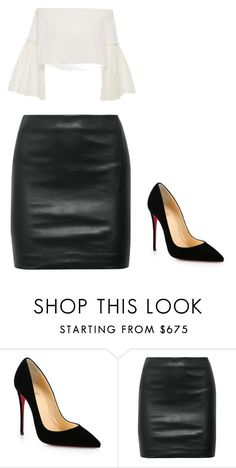 """:))"" by jenny366 ❤ liked on Polyvore featuring Christian Louboutin, The Row and Rosetta Getty"