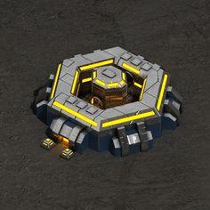 Command center sci-fi building Architecture  3D Models