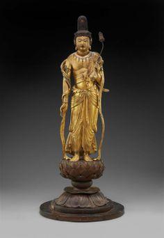 120. Kaikei, Miroku Bosatsu, 1189. Legno dorato, h. 106,6. Boston, Museum of Fine Arts.
