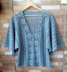 Items similar to Made to order summer women crochet blouse. Linked cotton crochet on Etsy Crochet Tunic Pattern, Crochet Shirt, Crochet Jacket, Cotton Crochet, Crochet Cardigan, Knit Crochet, Mode Crochet, Crochet Summer Tops, Crochet Fashion
