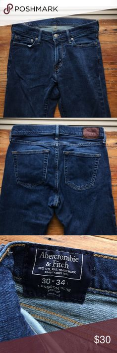 0f66b8ca A&F Langdon slim jeans Worn a couple of times and in excellent condition! 34 ""
