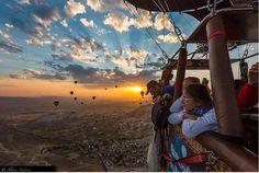 Hot air balloons..