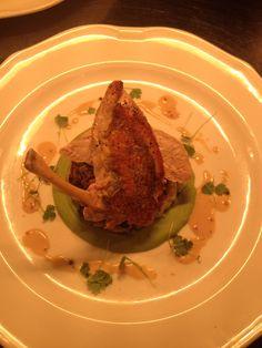 Guinea Fowl, wild garlic rosti, puy lentil cassoulet, pea puree, nant Conwy mustard, celery cress