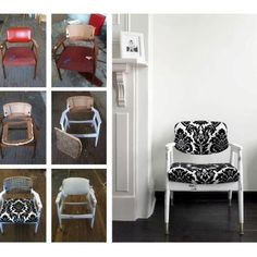 My first upholstery project - from Liz & Jewels Chair Redo, Home Projects, Ladder Decor, The Neighbourhood, Upcycle, Upholstery, Diy Ideas, Craft Ideas, Upcycling Ideas