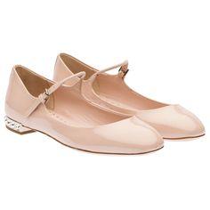 Patent leather Mary Jane ballerina